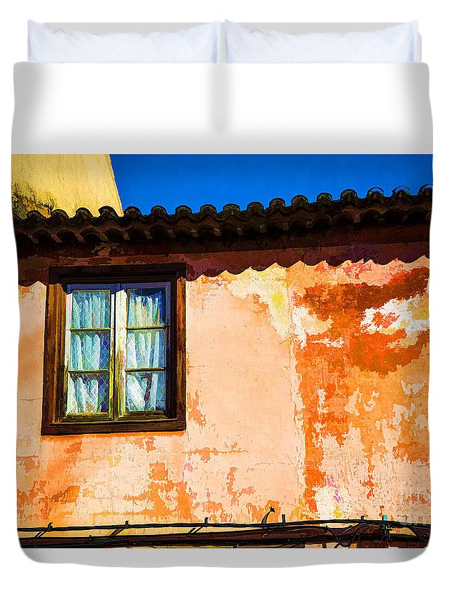 Portugal Cityscapes Walls Duvet Cover featuring the photograph Small Window by Rick Bragan