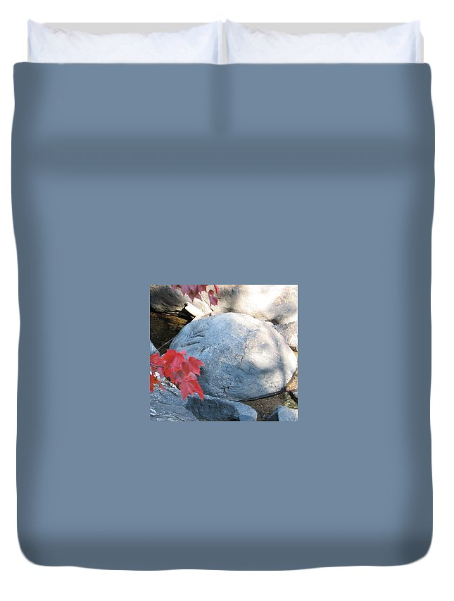 Stone Duvet Cover featuring the photograph Small Wonder by Kelly Mezzapelle