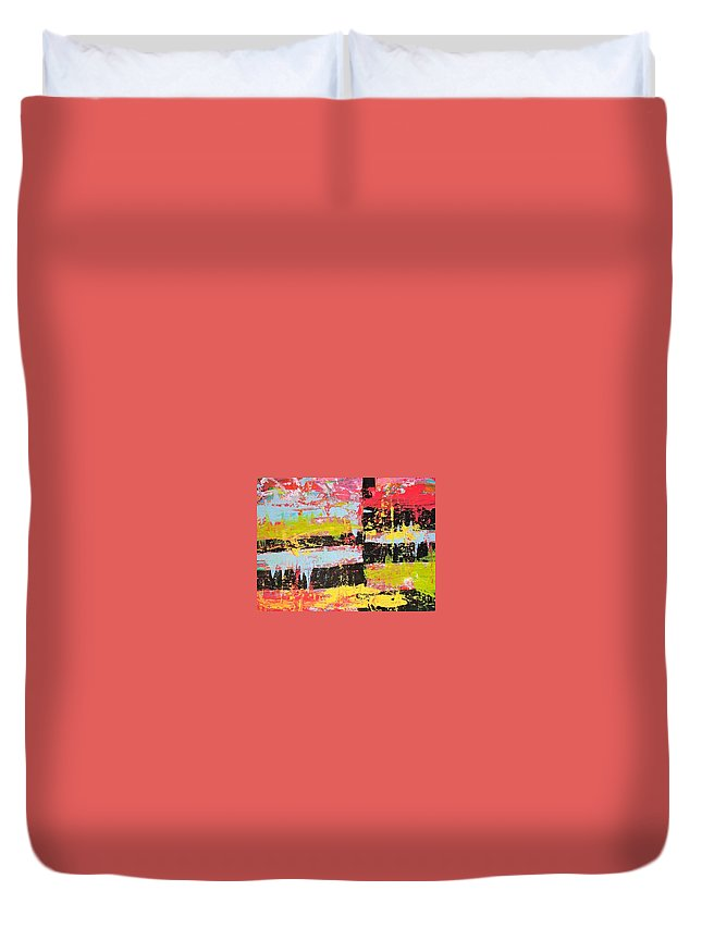 Duvet Cover featuring the painting Smash Paint by Lindsay Warren