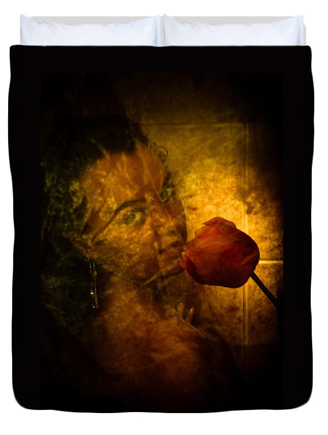Flower Duvet Cover featuring the photograph Smelling The Flowers by Scott Sawyer