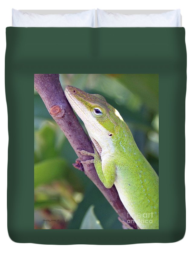 Animal Duvet Cover featuring the photograph Smile by Shelley Jones
