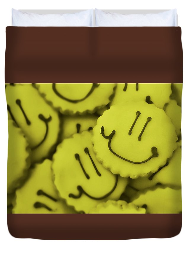 Cookie Duvet Cover featuring the photograph Smiley Face by JAMART Photography