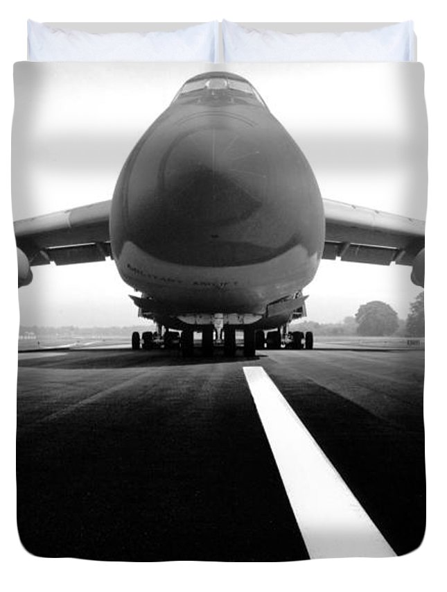 Black & White Duvet Cover featuring the photograph Smiling C Five Galaxy by Frederic A Reinecke