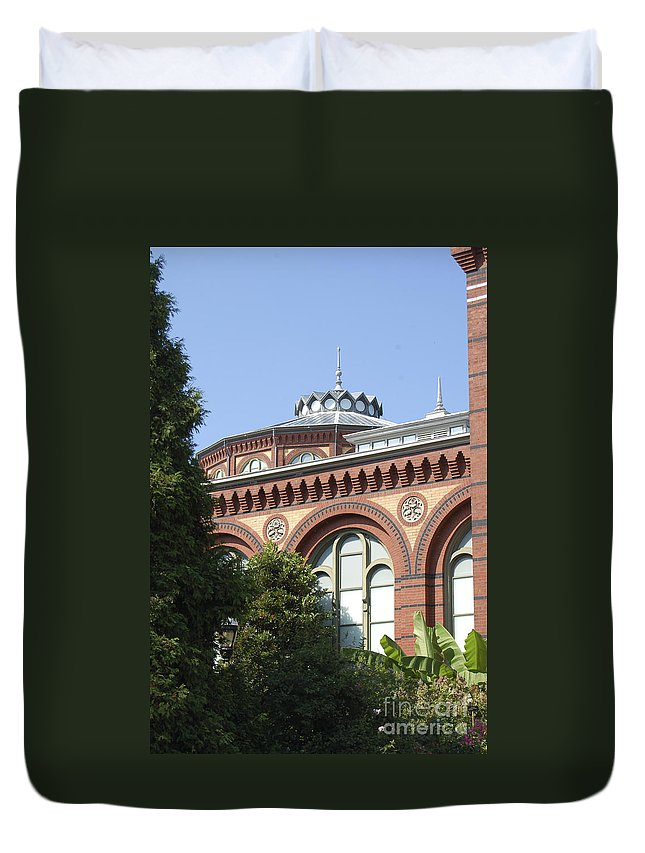 Smithsonian Duvet Cover featuring the photograph Smithsonian Arches by Faith Harron Boudreau