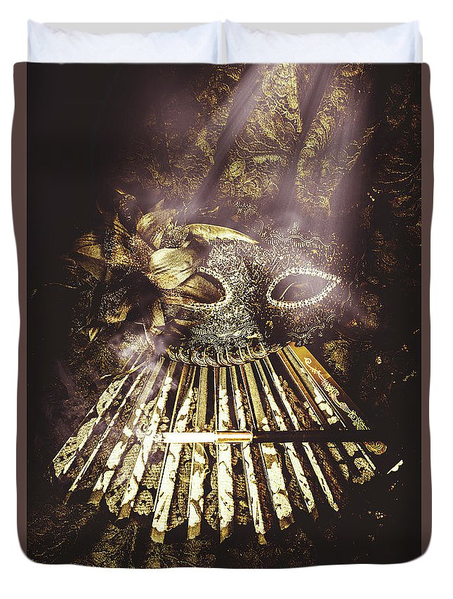 Theater Duvet Cover featuring the photograph Smoke And Theatres by Jorgo Photography - Wall Art Gallery