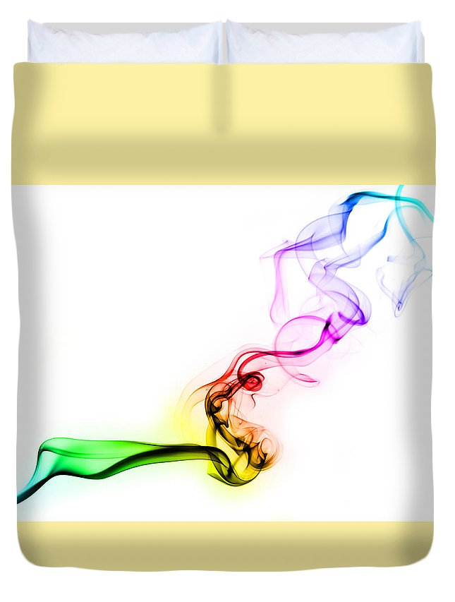 Smoke Duvet Cover featuring the photograph Smoke by Luis Torres