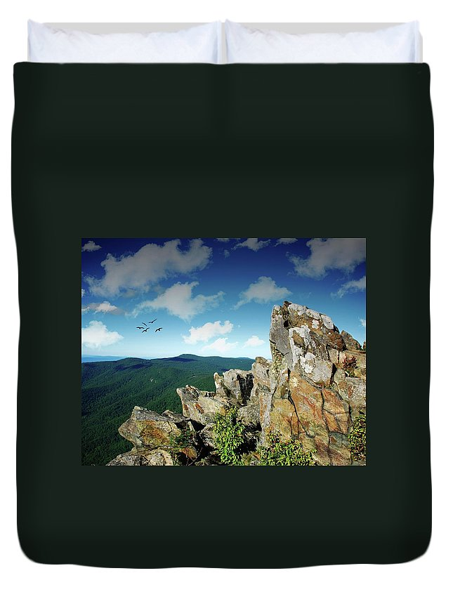 Duvet Cover featuring the photograph Smoky Mountain View by Toby Horton