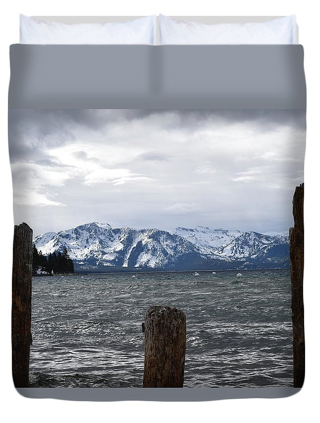 Lakes Duvet Cover featuring the photograph Snow Capped by Christina McNee-Geiger