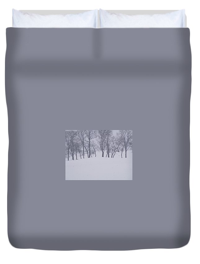 Duvet Cover featuring the photograph Snow Line by Lindsay Warren