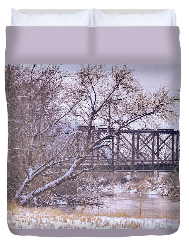 Transportation Duvet Cover featuring the photograph Snow Over White Cloud by Mark Pearson