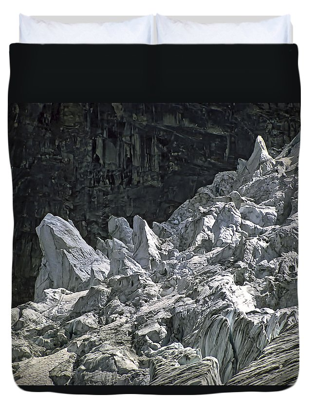 Bugaboos Duvet Cover featuring the photograph Snow Patch Spire IIi by Steve Harrington