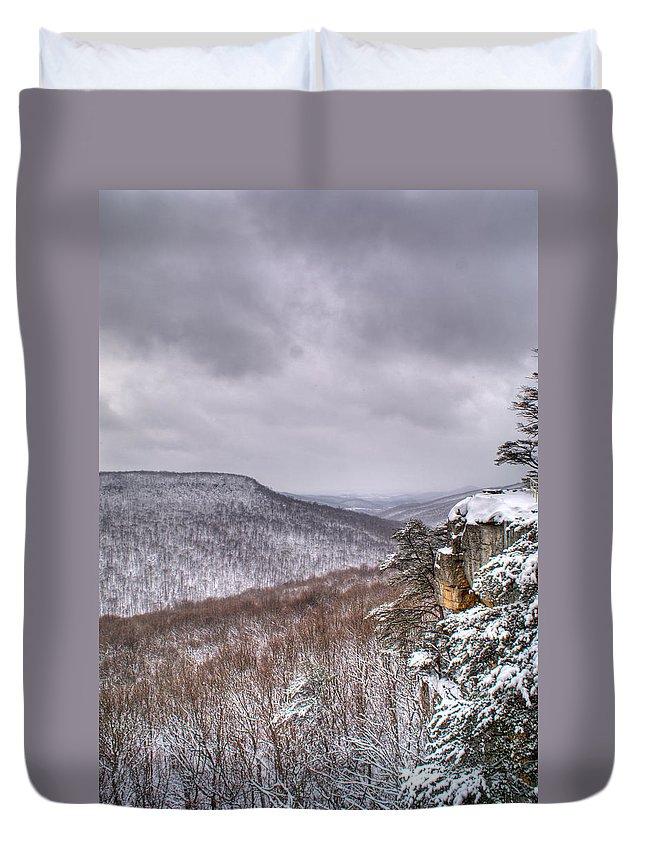Snow Duvet Cover featuring the photograph Snow Remoteness by Douglas Barnett