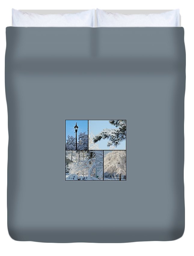 Snow Duvet Cover featuring the photograph Snow Scenes Of Charleston Sc by Donna Bentley