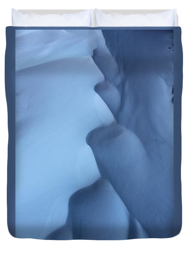 Snow Duvet Cover featuring the photograph Snow Waves by Lauri Novak