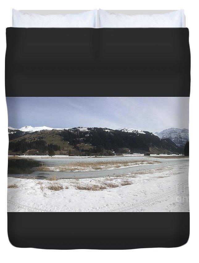 Winter Duvet Cover featuring the photograph Snow World Long 2 by Angelika Heidemann