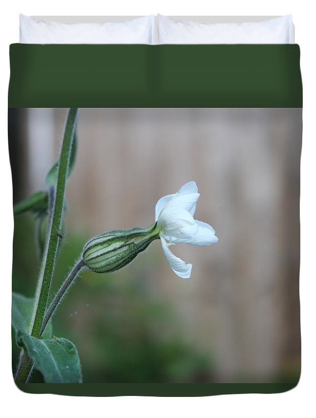 Snowdrop Spring Flower Duvet Cover featuring the photograph Snowdrop by Michaela Hughes