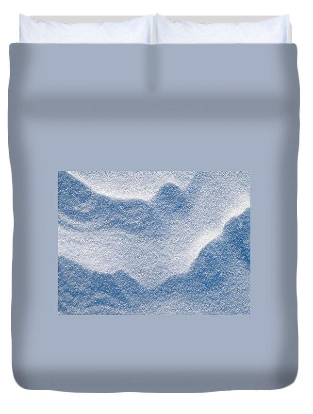 Talvi Duvet Cover featuring the photograph Snowforms 3 by Jouko Lehto