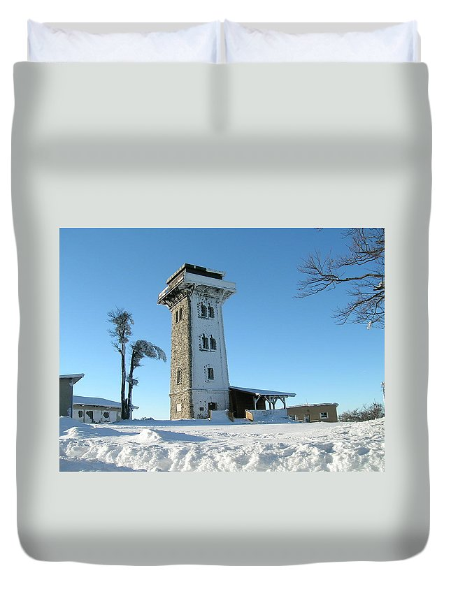 Cerchov Duvet Cover featuring the photograph Snowy Cerchov by Pavel Feierfeil