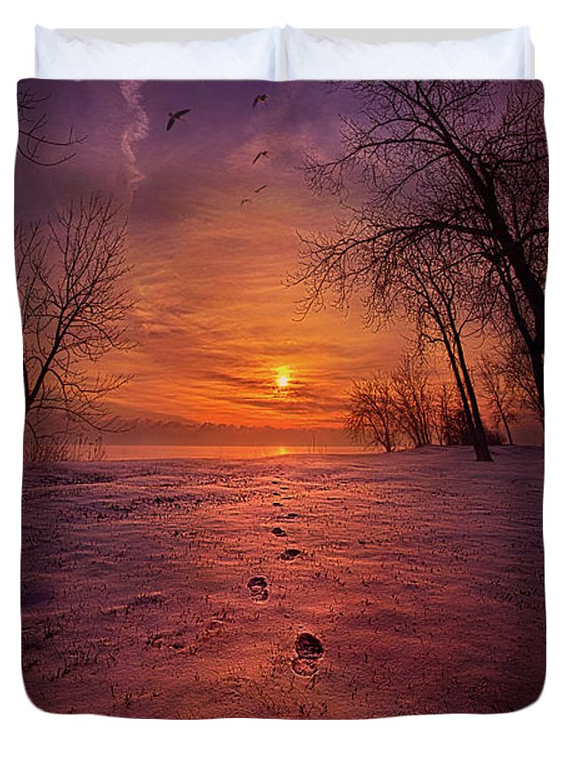 Mood Duvet Cover featuring the photograph So Close No Matter How Far by Phil Koch