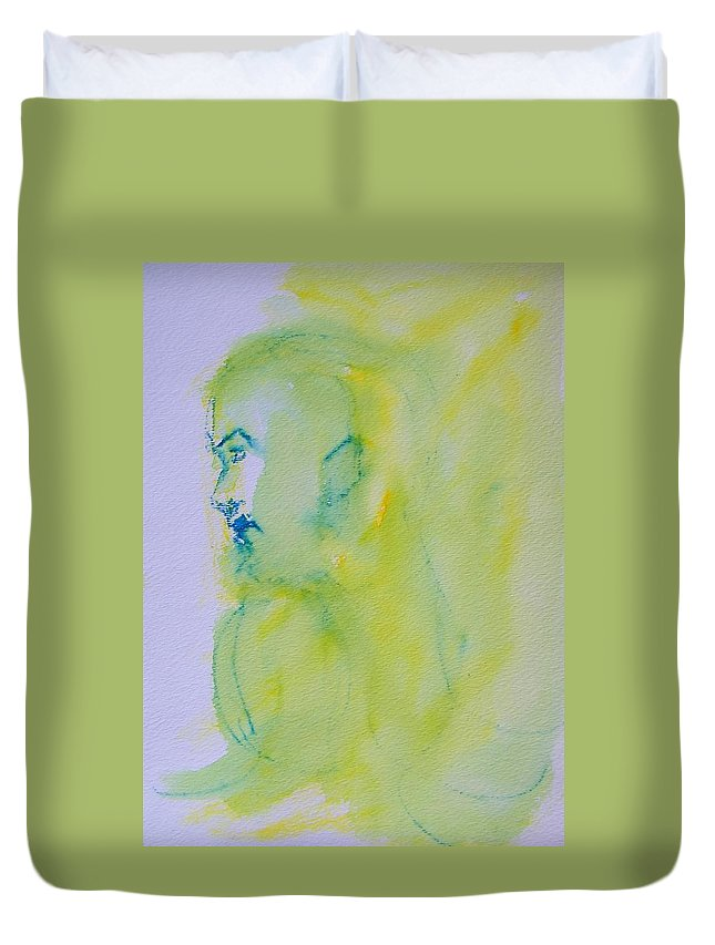 Abstract Duvet Cover featuring the painting So Far Away 2 by Judith Redman