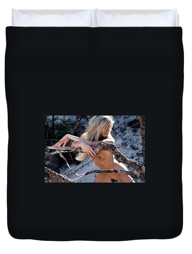 Sensual Duvet Cover featuring the photograph So Far Away by Olivier De Rycke