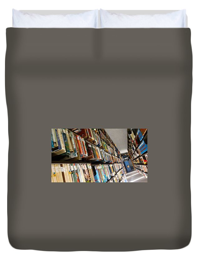 Books Duvet Cover featuring the photograph So Many Books by Sage Burks