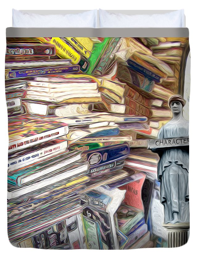 Books Duvet Cover featuring the digital art So Many Books To Read by Phil Perkins