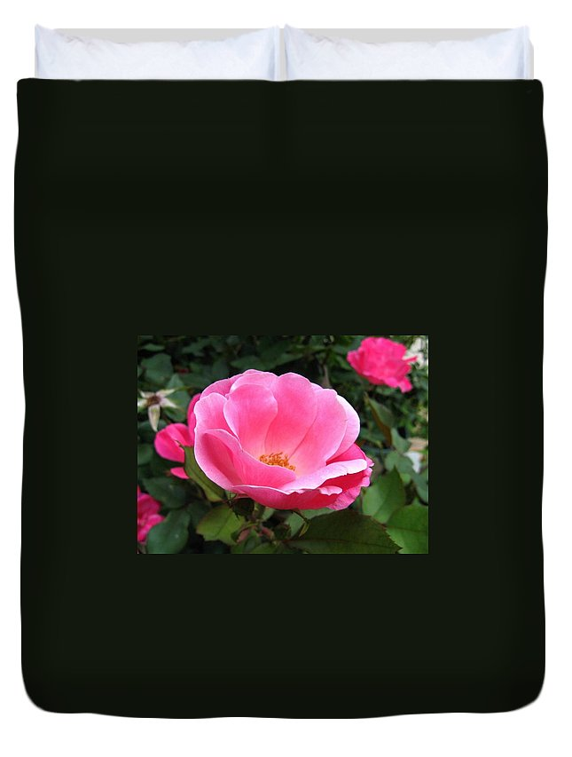 Flower Duvet Cover featuring the photograph So Pretty by Rhonda Barrett