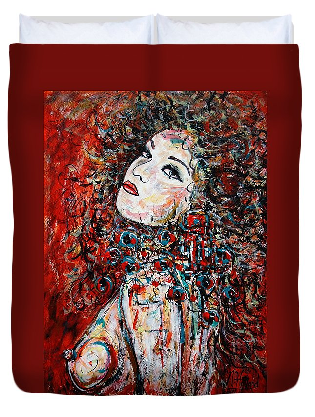 Expressionism Duvet Cover featuring the painting So What by Natalie Holland
