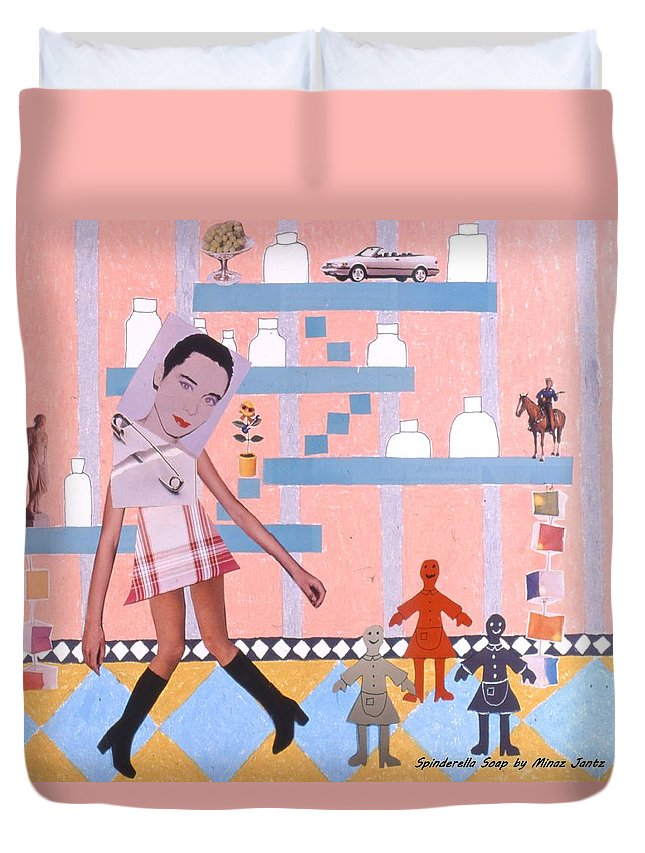 Cowboy Duvet Cover featuring the drawing Soap Scene #16 Miracle Maids by Minaz Jantz