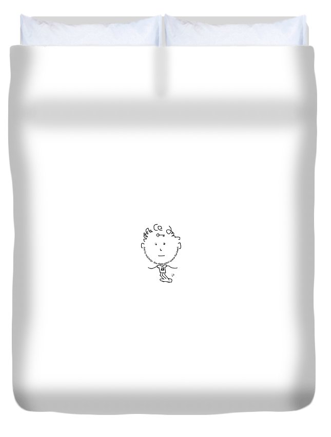 Messages Duvet Cover featuring the digital art Sobriety by Lia Miflizidou