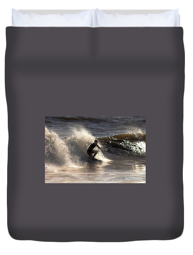 Clay Duvet Cover featuring the photograph Socal Surfing by Clayton Bruster