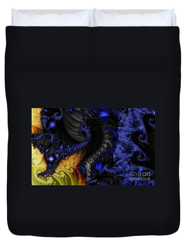 Clay Duvet Cover featuring the digital art Social Classes by Clayton Bruster
