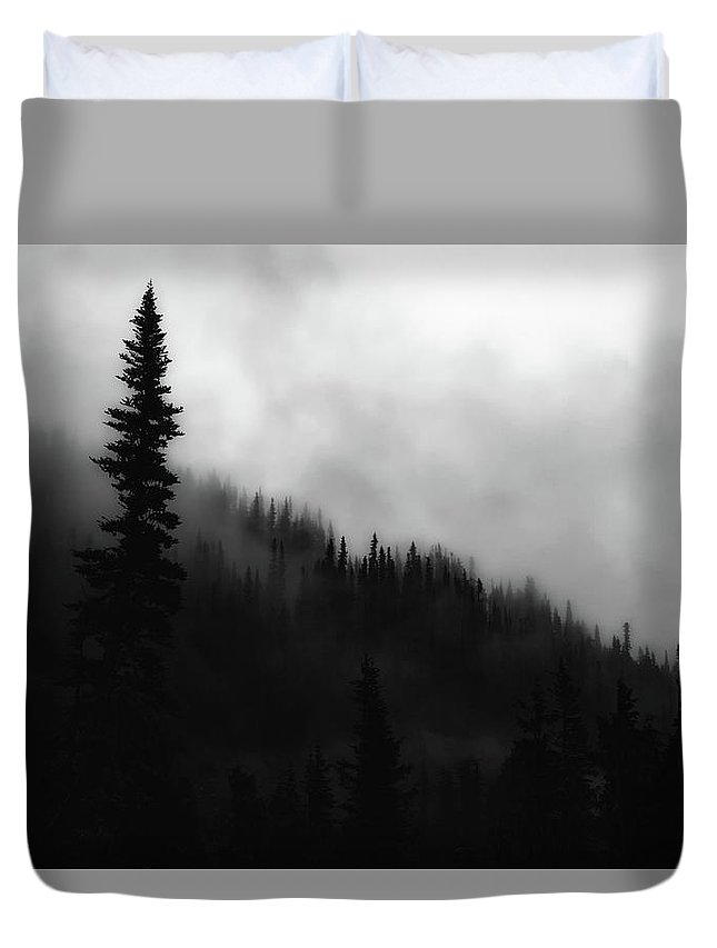 Washington Duvet Cover featuring the photograph Socked In by Rick Furmanek