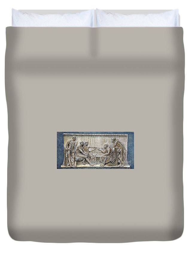 5th Century B.c Duvet Cover featuring the photograph Socrates (c380-c450) by Granger