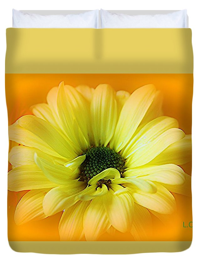Botanical Duvet Cover featuring the photograph Sodden Petals  by Lori Mahaffey