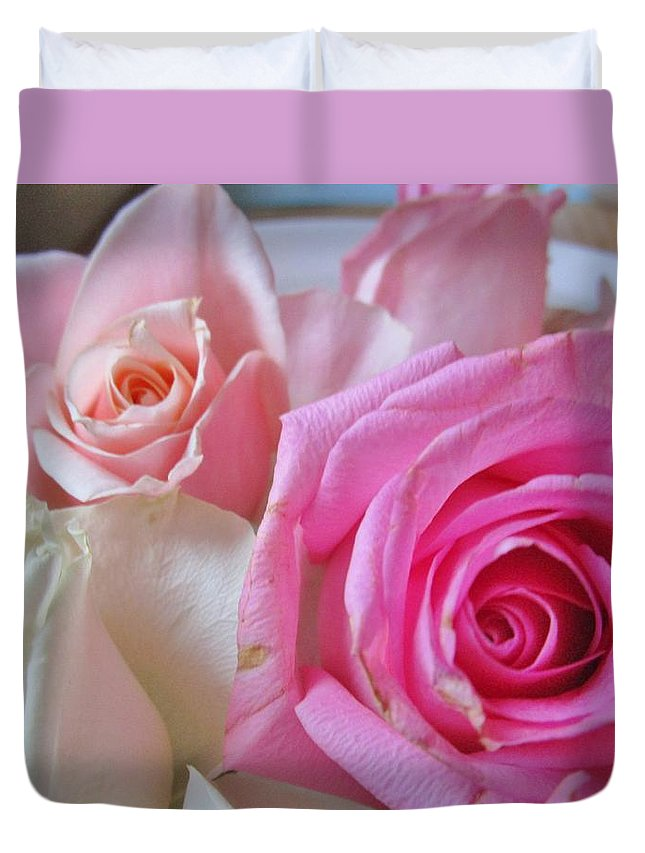 Roses Duvet Cover featuring the photograph Soft And Sweet by Rosita Larsson