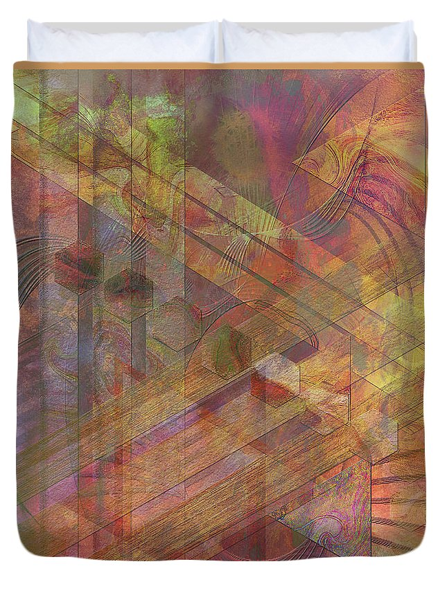 Soft Fantasia Duvet Cover featuring the digital art Soft Fantasia by John Beck