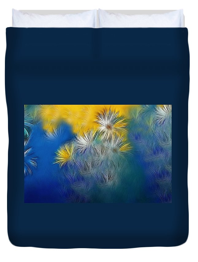 Flower Duvet Cover featuring the photograph Soft-flowers by Manfred Lutzius