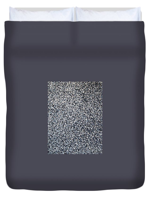 Abstract Duvet Cover featuring the painting Soft Grey Scale by Dean Triolo