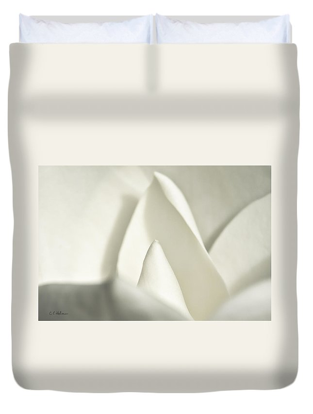 Magnolia Duvet Cover featuring the photograph Soft Magnolia by Christopher Holmes