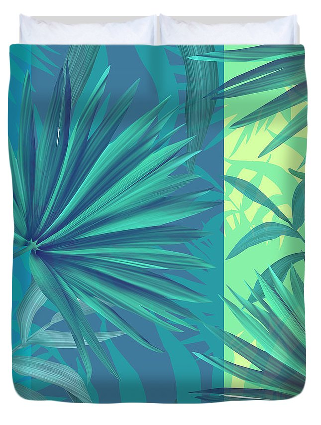 Summer Duvet Cover featuring the painting Soft Tropic by Mark Ashkenazi