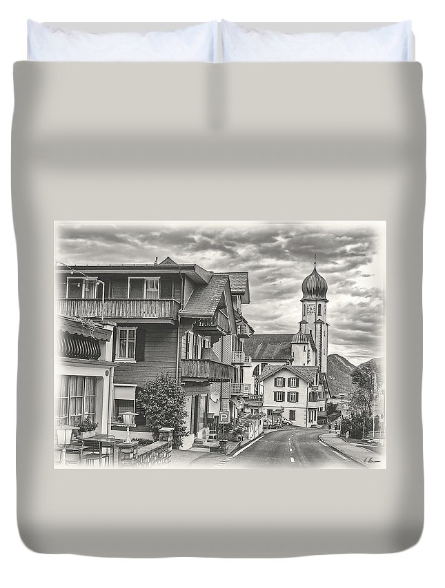 Switzerland Duvet Cover featuring the photograph Soft Village Image by Hanny Heim