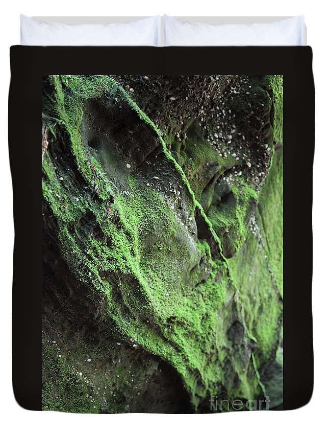 Rocks Duvet Cover featuring the photograph Soften The Moment by Amanda Barcon