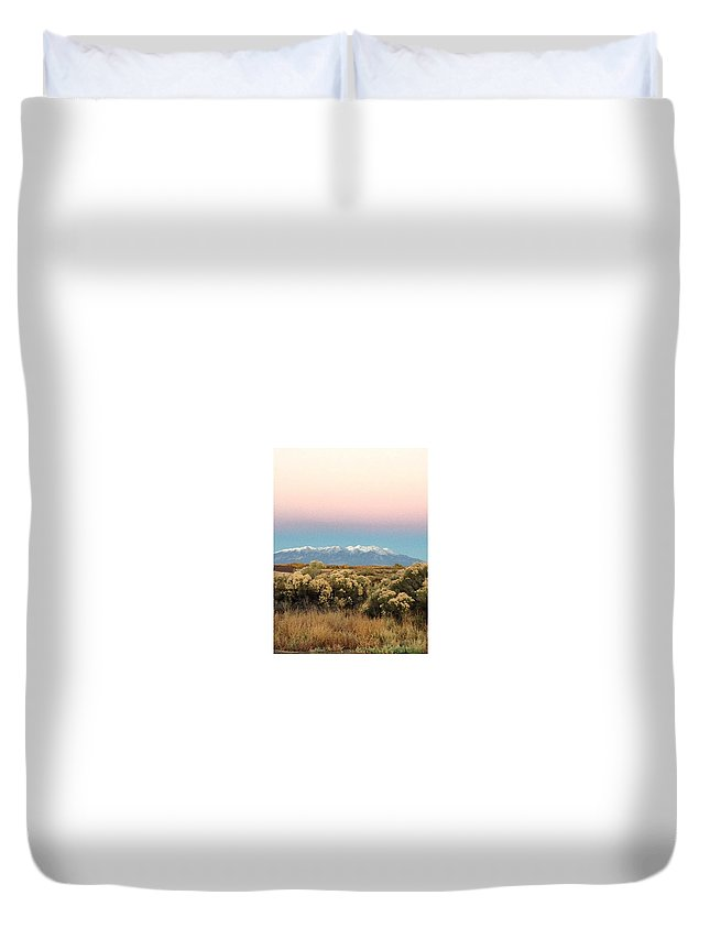 Pink Duvet Cover featuring the photograph Softness Vs Harshness by Carla Larson