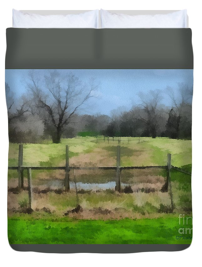 Corporate Duvet Cover featuring the photograph Soggy Texas Bayou by Paulette B Wright