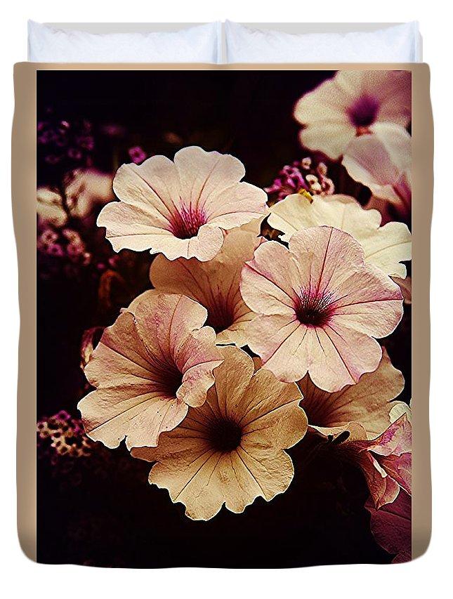 Botanical Duvet Cover featuring the photograph Solanaceae by Lori Mahaffey