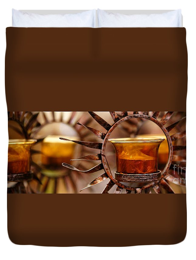 Sun Duvet Cover featuring the photograph Solar Evolution by Linda Shafer