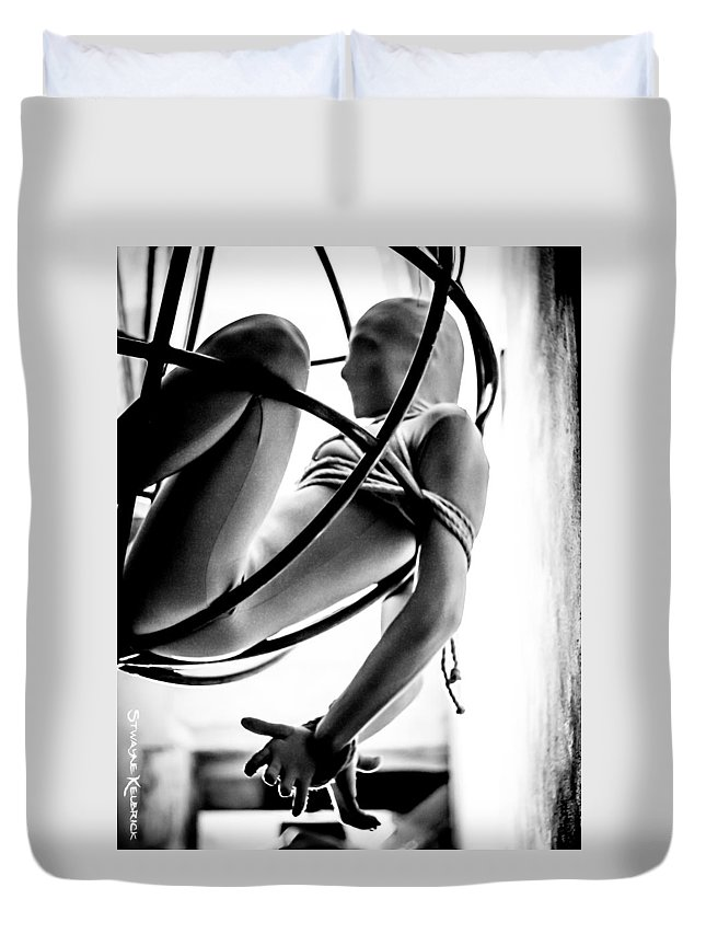 Models Duvet Cover featuring the photograph Solar Jail by Stwayne Keubrick