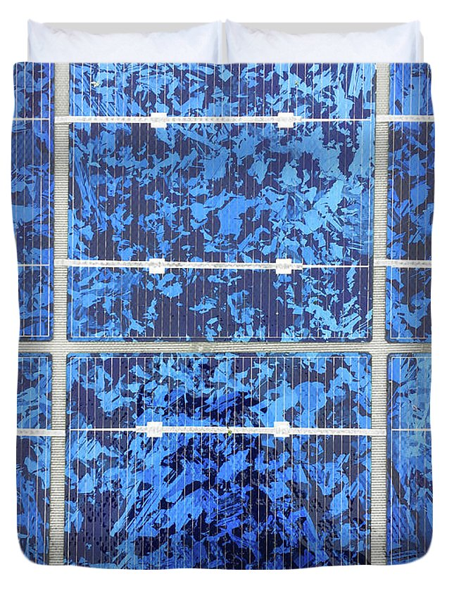 Alternative Duvet Cover featuring the photograph Solar Panels Background by Tom Gowanlock